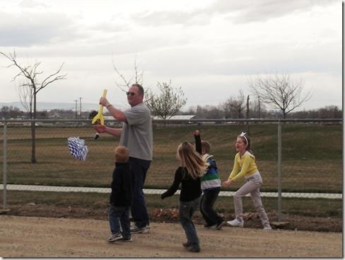 Dad catches Rocket