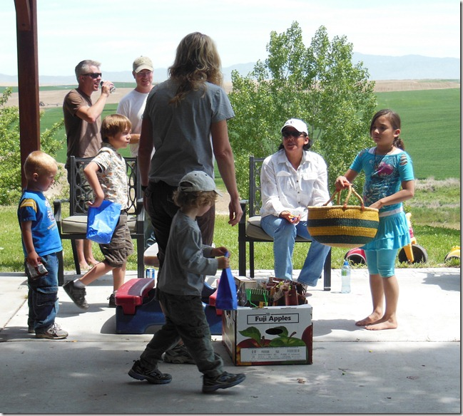 Prizes on Porch