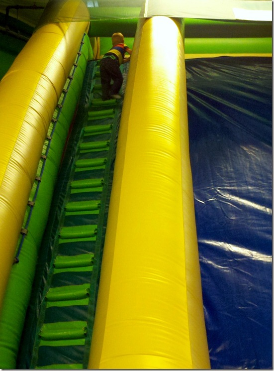Cimbing the Big Slide