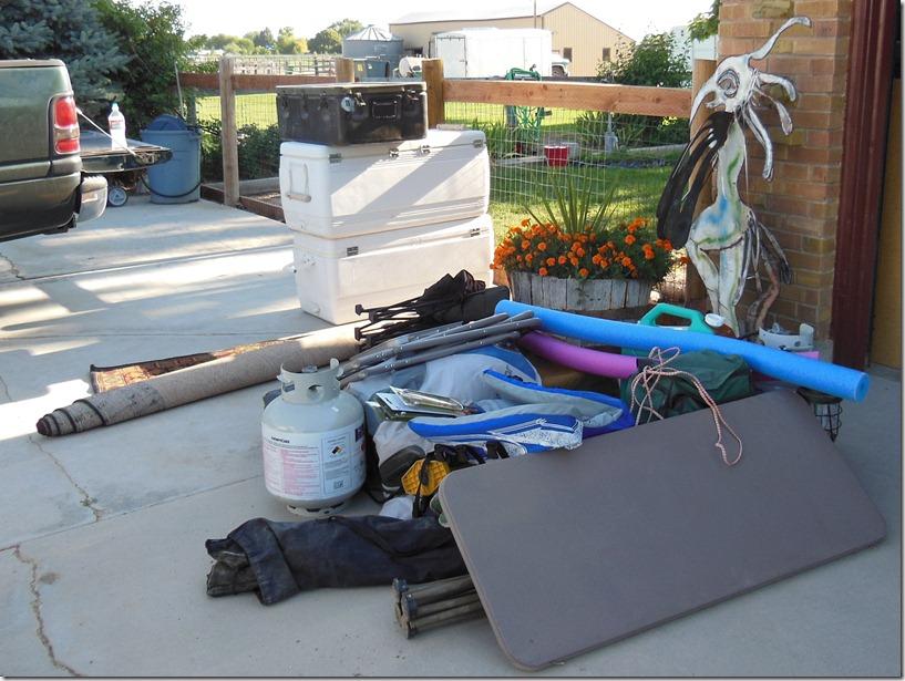 Piles of Stuff Outside