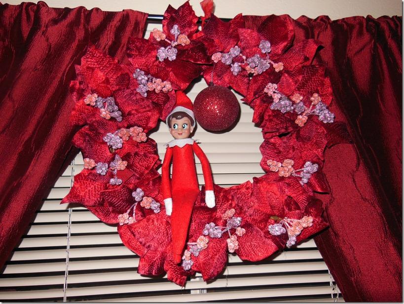 Elf on a Wreath