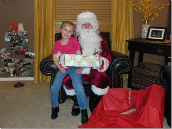 Sissie and Santa