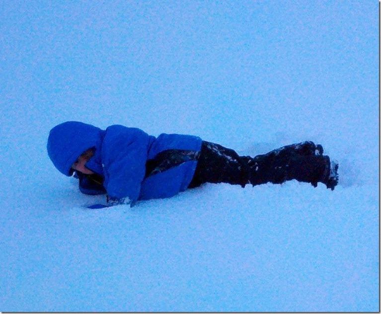 Batman in Snow