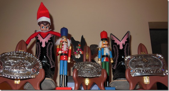 Xmas Elf on Trophy Shelf