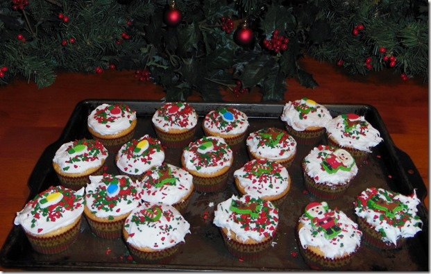 Xmas Finished Cupcakes